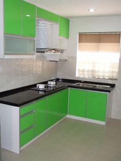 Desain Dapur Sederhana Dan Murah Pink Hijau Putih