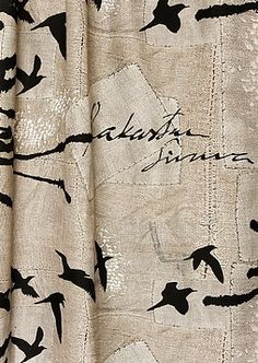 Vallila, Sivuverho Ainoa Lauri Tähkä Home Textile, Textile Design, Textile Art, Fabulous Fabrics, Fabric Art, Fabric Patterns, Carpets, Fiber Art, Needlework