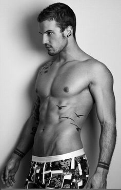 I love that tattoo on his stomach!--Parker Hurley
