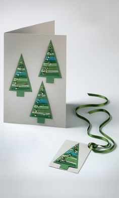 Jewelry Design - Tree Christmas Cards with Swarovski Crystal - Fire Mountain Gems and Beads