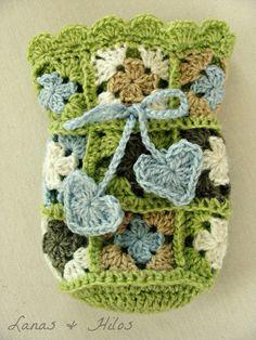 lil granny square gift bag