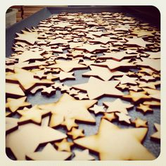 More lovely stars from craftshapes.co.uk. We have pick and sort them, then sand the larger ones. It's fun cutting them but not so much fun sanding hundreds if them! Still, I love seeing them all cut in the tray! Steve :-) Larger, Tray, Craft Ideas, Shapes, My Love, Fun, How To Make, Crafts, Manualidades