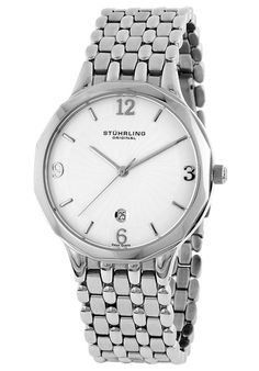 Price:$91.55 #watches Stuhrling Original 603.32112, Created in a blend of fashion and class, this Stuhrling timepiece exhibits a bold style that adds flare to your collection.