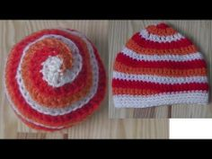 How to crochet a spiral hat beanie - YouTube