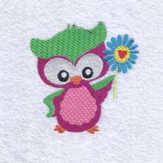 Free Embroidery Design: Groovy Owl