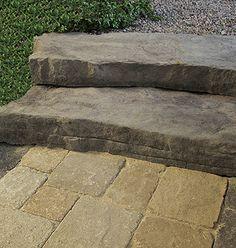 Blockstufen Und Felsstufen   Gerwing | Mit Stein Gestalten |  Pflastersteine, Terrassenplatten, Mauersteine,