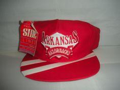 Vtg #Arkansas #Razorbacks Snapback hat cap rare NWT 90s NCAA