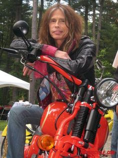 Steven Tyler on motorcycle