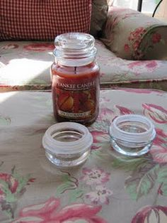 Recycling Candle Jar Tops....I never know what to do with them.....here are some ideas that might get you to thinking of other ways to reuse them.