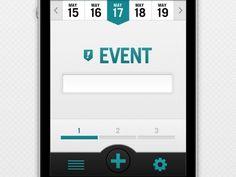 Dribbble - App - Event Page by Jeremey Fleischer