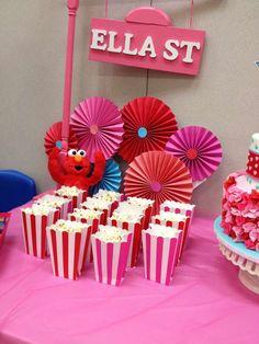 Elmo Girly theme Birthday Party Ideas | Photo 1 of 21 | Catch My Party