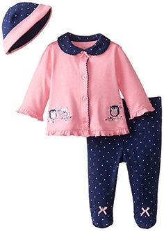 Little Me Baby-Girls Newborn Pink Owl…