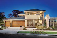 Eden Brae vs Allcastle Homes (Building in Kellyville Ridge) Facade House, House Facades, Eden Brae, Concrete Roof Tiles, Darwin Australia, Australian Homes, Building A House, House Plans, New Homes