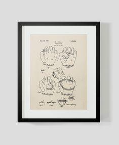 1927 Baseball Glove Patent Print 8.5 x 11 by michaelellisstudios, $15.00