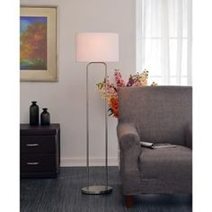 Design Craft Stills Brushed Steel 58-inch Floor Lamp