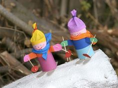 Winter Crafts For Toddlers, Winter Activities For Kids, Winter Kids, Christmas Crafts For Kids, Kids Sports Crafts, Bear Crafts, Toilet Paper Roll Crafts, Creative Gift Wrapping, Preschool Crafts