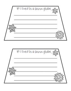 If I lived in a Snow Globe... - Re-pinned by @PediaStaff – Please Visit http://ht.ly/63sNt for all our pediatric therapy pins