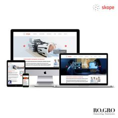 // Ro.Gro developed a responsive website for the Swiss based medical technology company Skope. The website and interface design is based on a minimalist look and feel with a clear focus on functionality and mobile experience. Check out the website here: www.skope.ch.