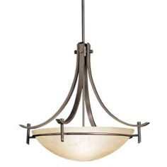 View the Kichler 3278 Olympia 3-Bulb Indoor Pendant with Bowl-Shaped Glass Shade at LightingDirect.com.