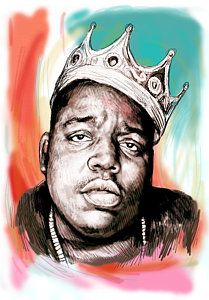Big Notorious Painting - Biggie Smalls Colour Drawing Art Poster by Kim Wang