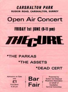 The Cure live concert: 01.06.1979 Carshalton - Carshalton Park (England) 'Carshalton Carnival'