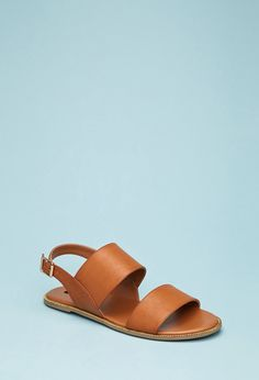 e093e80b63be Faux Leather Slingback Sandals
