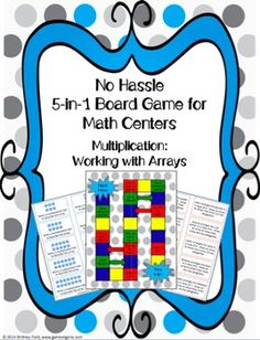 Want an easy-to-use center game that aligns to the exact learning objectives you're teaching? The 5 different games included in this set enable students to practice different ways of multiplying by using arrays in a fun and engaging way!