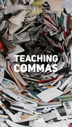 Ideas and a video (with a quiz and answers) for teaching commas. || Ideas and inspiration for teaching GCSE English || www.gcse-english.com ||