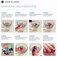 Marmurkowe paznokcie- idealne na wakacje. :)