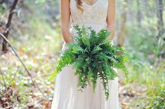 fern bouquet - photo by ArinaB Photography http://ruffledblog.com/greenery-filled-wedding-ideas