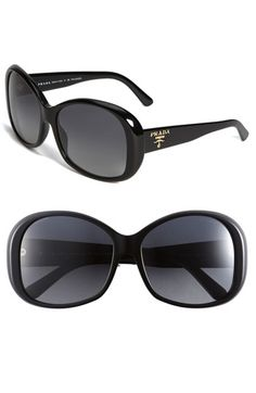 Prada Over sized Sunglasses. I saw these and automatically thought of Audrey Hepburn in Breakfast at Tiffany's. Love!