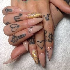 "vanityprojectsnyc:  ""Miami based @netta2hot will be in NYC June 20-23!! Book now!! #nailart #vanityprojects  "" Life Tattoos, Dream Tattoos, New Tattoos, Body Art Tattoos, Future Tattoos, Finger Tattoo For Women, Hand Tattoos For Women, Finger Tats, Hand Tats"