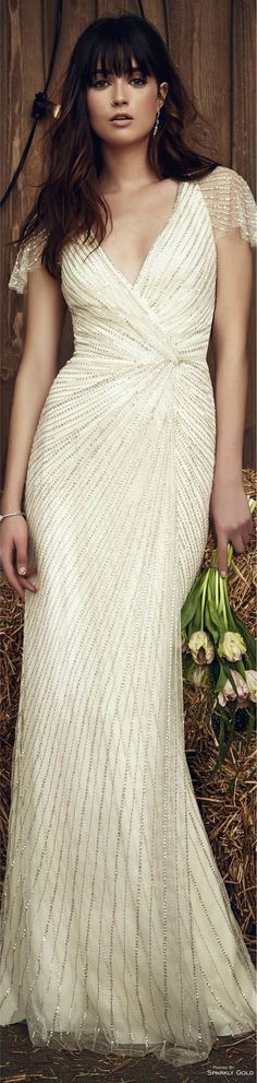 Jenny Packham Bridal 2017 l Ria Wedding Frocks, Wedding Gowns, Wedding Bouquets, Glamour, Jenny Packham Bridal, Alexander Mcqueen, Cool Outfits, Fashion Outfits, Fashion 2016