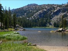 Thinking about the mountains. Woods Lake, California.