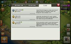 Inbox, messages from co leaders of clans