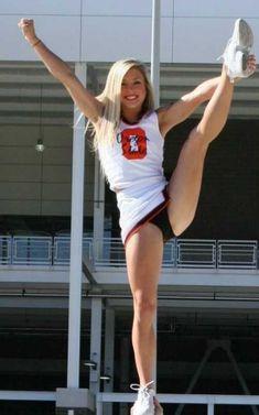 Nude cheerleaders in bow