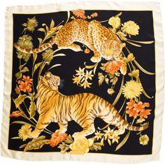 bufandas 110 Polyvore print Se estampado de y con presenta encuentra en Salvatore tigre de Ferragamo femenina accesorios de animal seda moda Pañuelo BHqwAvzq
