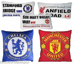 Football club filled bedroom #cushion logo or #street sign #fibre man u chelsea , View more on the LINK: http://www.zeppy.io/product/gb/2/162095341323/