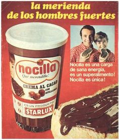 Así se anunciaba Nocilla a finales de los años 60.