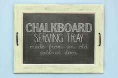 Chalkboard tray tutorial 1 by stitchedbycrystal, via Flickr