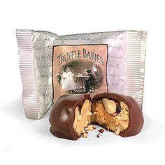 Truffle Babies-Chocolate, PB & Roasted Almond Bites by Colts Chocolates