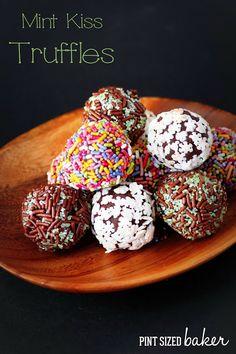 Mint Hershey Kiss Truffles