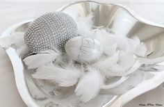Silver easter eggs - Home White Home -blog