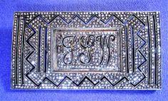 Antique ART Deco Marcasite Sterling Silver Vintage Brooch PIN Monogramed J S W | eBay/$98