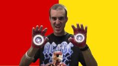 Duct Tape Iron Man Gloves!, via YouTube.