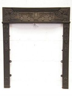 Vintage Cast Iron Fireplace Surround | Cast iron fireplace ...