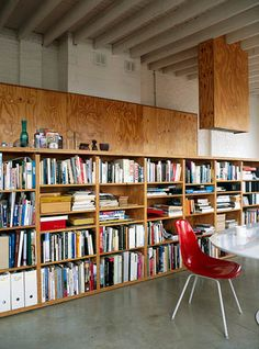 plywood cabinet and bookshelves. Plywood Bookcase, Plywood Cabinets, Plywood Walls, Plywood Furniture, Bookshelves, Plywood Board, Wooden Walls, Plywood Interior, Interior Walls