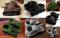Pattern For Tiger 1 Tank Panzer Crocheted Slippers Häkeln