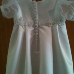 Christening gown made from my wedding dress