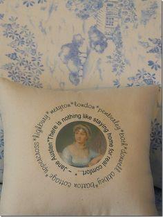 Jane Austen pillow